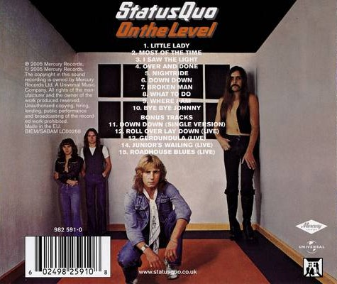 Status Quo On The Level Back Cover