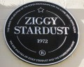 The Ziggy Stardust plaque in Heddon St