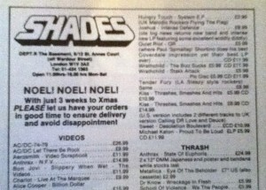 Shades advert