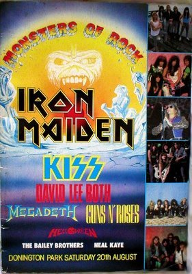 Guns n Roses Iron Maiden Kiss