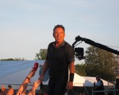 Bruce Springsteen: Nice to get a shot of The Boss as the light faded and he stood in front of the 80.000 crowd. Another time I was glad I was at the front of the crowd...