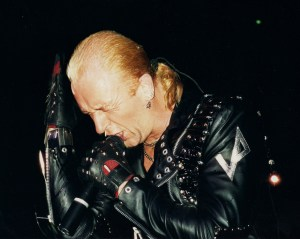 Rob Halford Live Judas Priest Hammersmith close up 1989