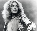 old black & white copy scan picture of ROBERT PLANT  musician