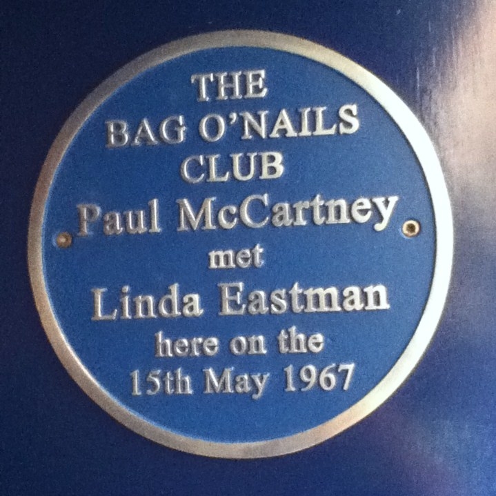 Paul McCartney Blue Plaque Bag o Nails