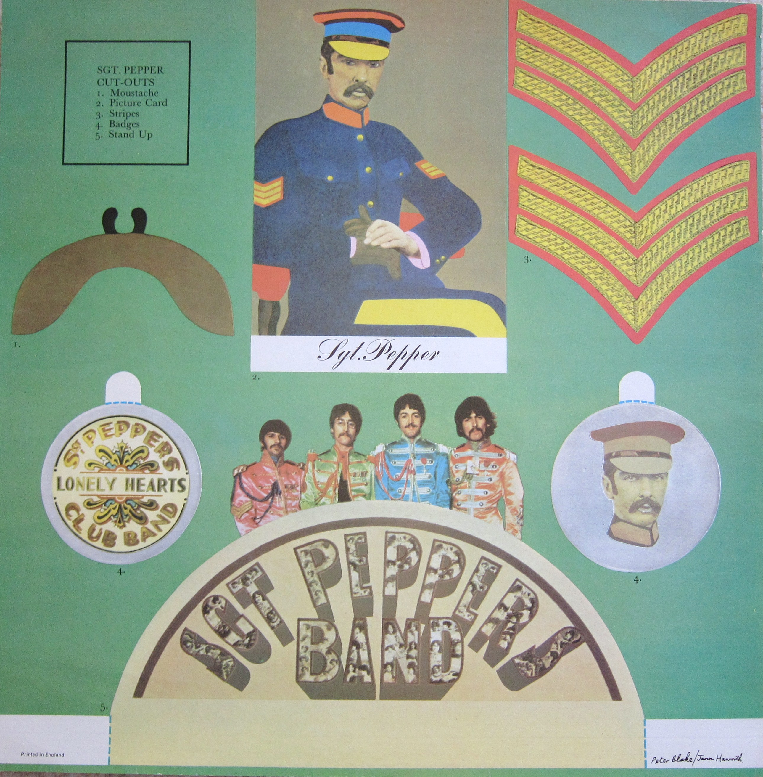 The Beatles Sgt Pepper Cut Out Every Record Tells A Story