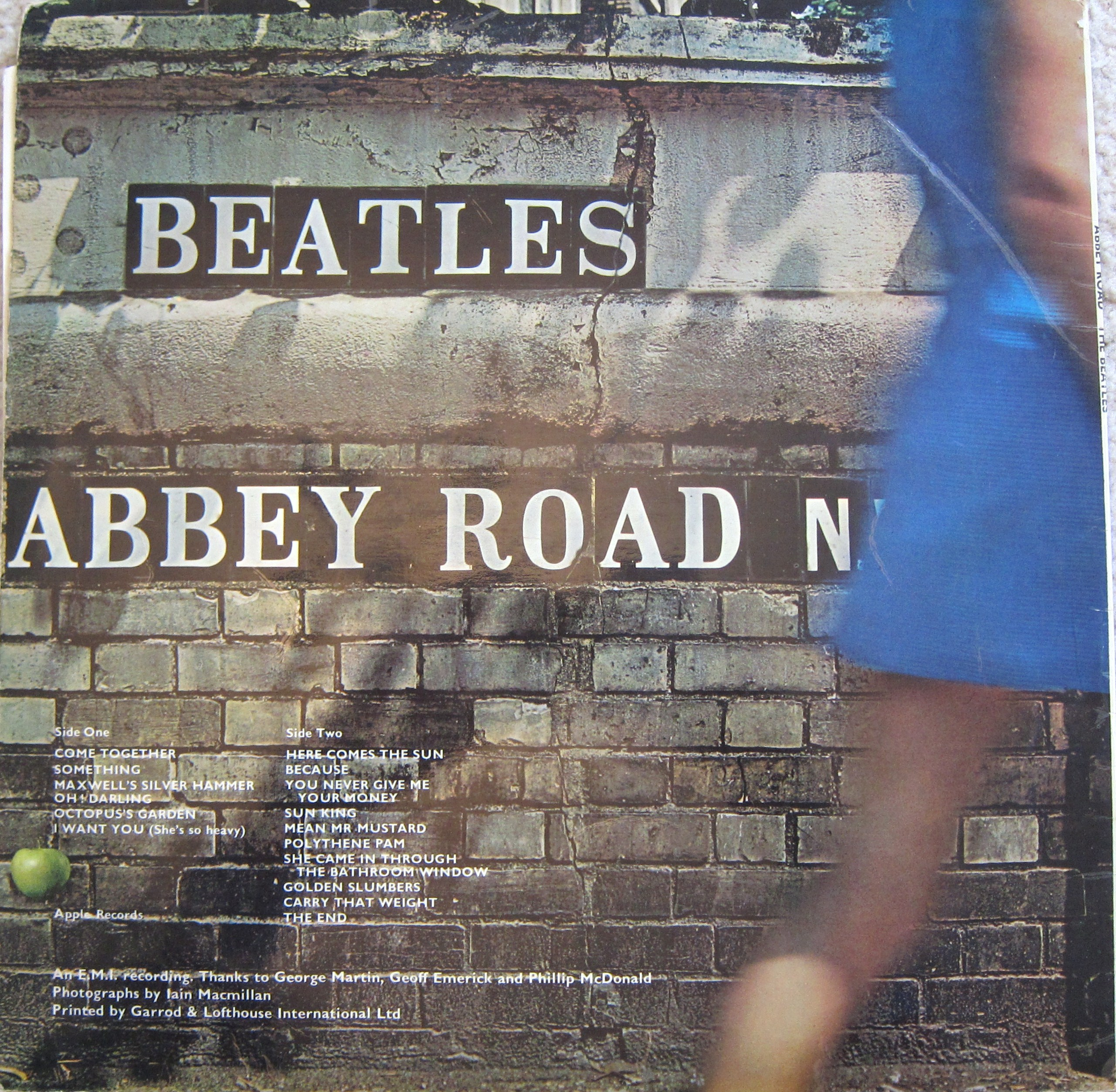 The Beatles Abbey Road Reverse Misaligned Apple 5085