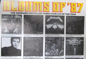 It's actually the albums of 1986. Clearly no-one at Kerrang! Magazine even knew what year it was...