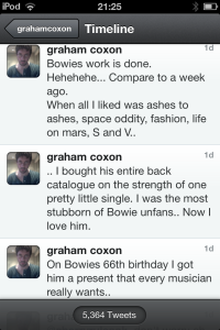 Graham Coxon Bowie Tweet