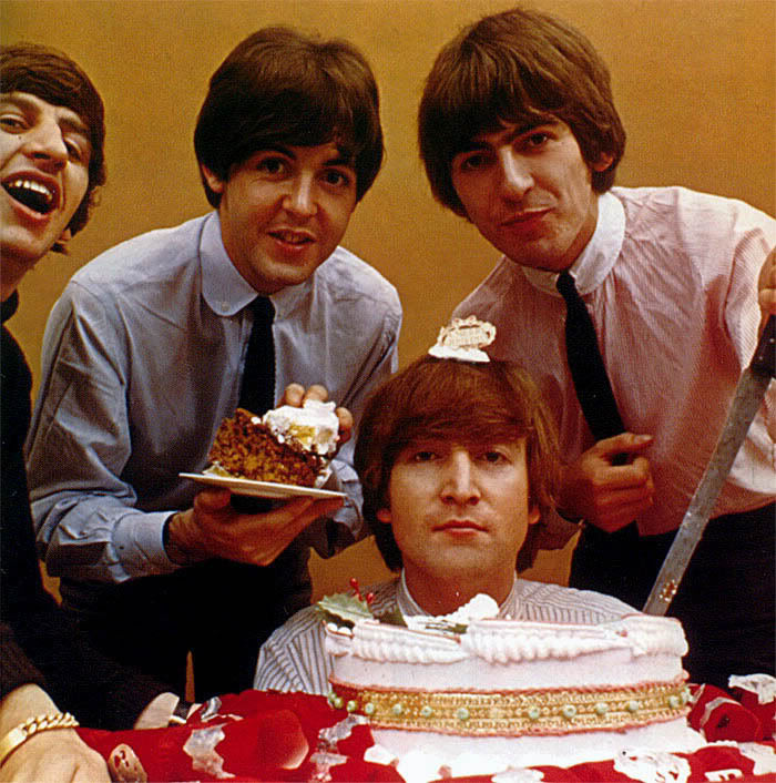 Birthday cake beatles John Lennon Paul McCartney Ringo Starr George Harrison