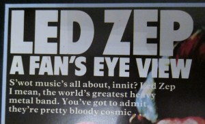 Led Zep A Fans Eye View Rock On! Annual