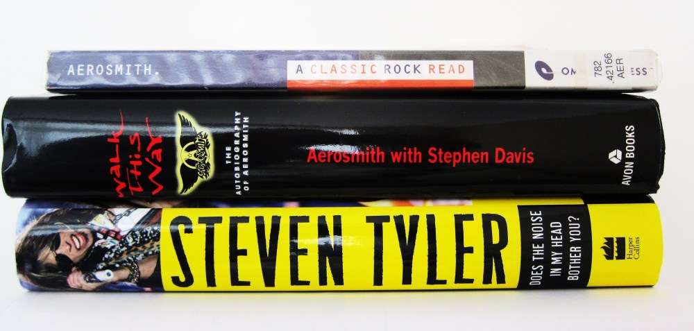 Stack of Aerosmith books