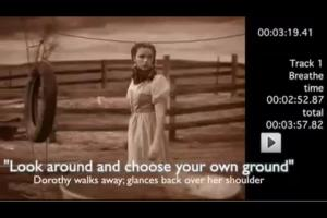 """Look Around"" say the lyrics to Breathe: So what does Dorothy do at That Very Moment?"