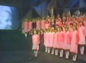 St Winifred's School Choir. Which one's Pink?