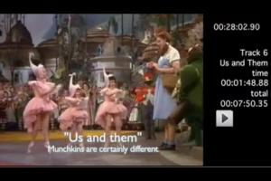"The Munchkins ""dance"" to Us and Them..."