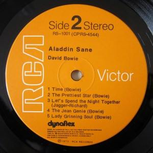 Aladdin Sane Dynaflex RCA orange label