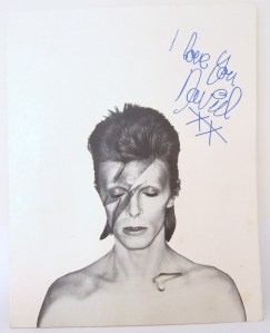 Aladdin Sane Fan Club insert