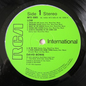 Bowie Low international RCA green label