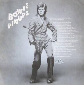 Bowie Pin Ups inner sheet
