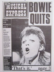 Bowie Quits NME cover