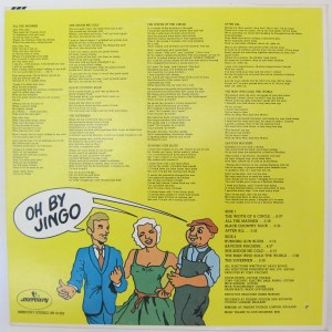 The reverse of Bowie's Cartoon Cover of The Man Who Sold The World - with lyrics