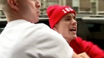 Justin Bieber shouts at paparazzi