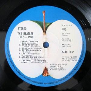 The Beatles record label Blue Album Apple