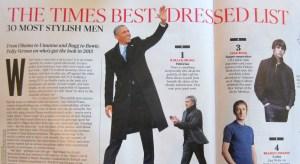 The Times 30 Most Stylish Men Jake Bugg Barack Obama