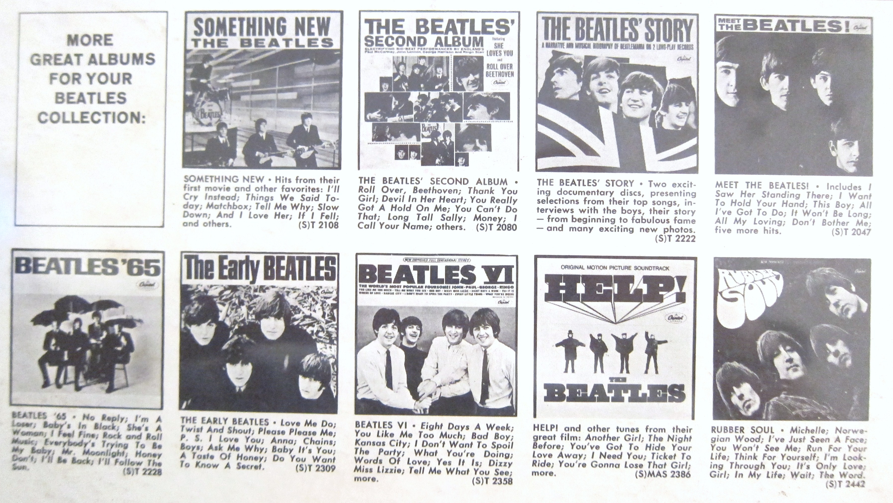 Us Beatles Album Covers Every Record Tells A Story