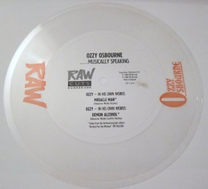 flexi disc Ozzy Osbourne RAW magazine miracle man