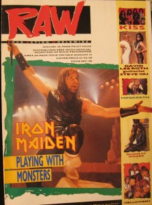 RAW magazine issue 00 Iron Maiden Donington 1988