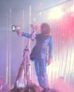 Wayne Coyne with torch The Flaming Lips The Terror Steven Drozd