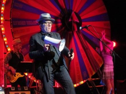 Elvis Costello holding a megaphone IMG_7890