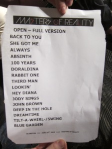 Masters of Reality Islington Set List