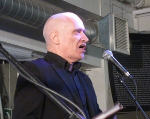 "Wilko Johnson at Rough Trade East last year talking about his book ""Looking Back At Me"""