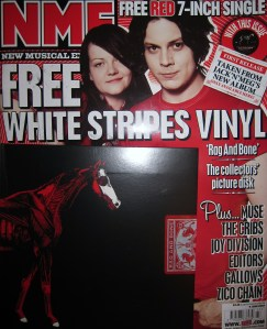 "That NME White Stripes free cover mounted 7"" single"