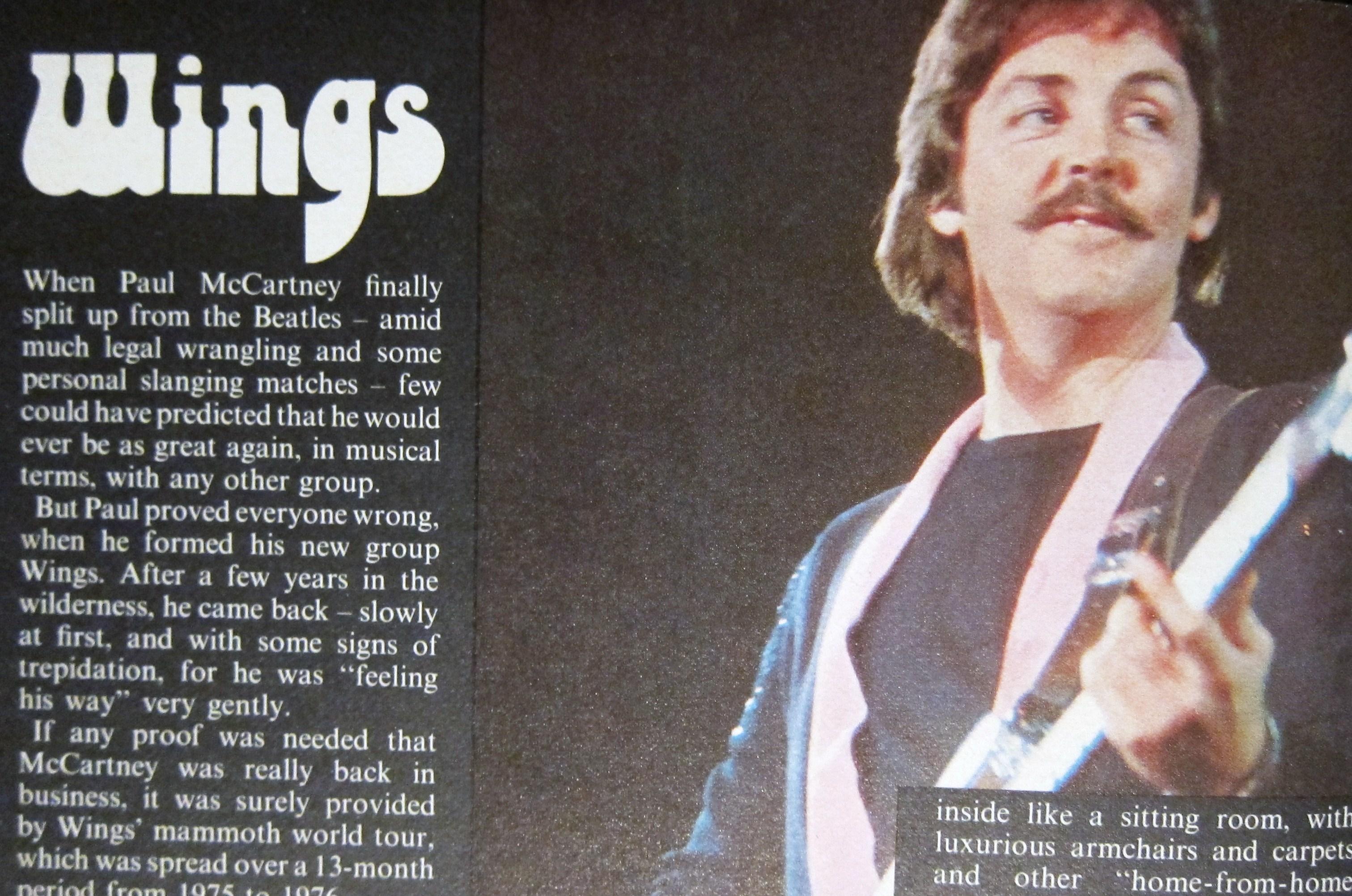 Paul McCartney Wings 78 Moustache