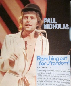 "The lovely Vince Pinner from ""Just Good Friends"" had an interesting pop career under the stage name of ""Paul Nicholas""."