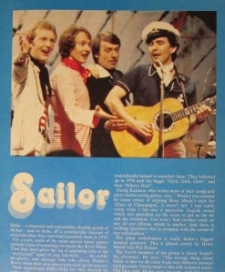 Sailor: Could have been the next Beatles.
