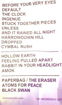 Set list Atoms for peace