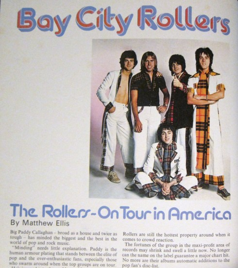 The Bay City Rollers (l-r: Nobby, Woody, Buzz Lightyear, Mt Potato Head.Front, seated: Tom Baker from Dr Who)