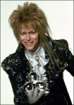 He's got balls...to sport a hair cut like that. David Bowie shows us a hair metal mullet in Labyrinth