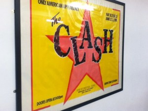 The Clash gig USA poster