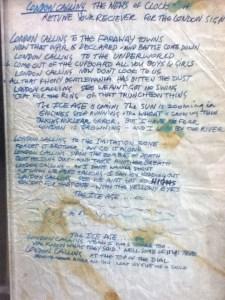 The Clash London Calling lyrics