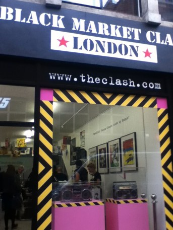 The Clash Pop up store Berwick St