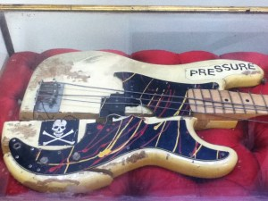 The Clash smashed up guitar NME