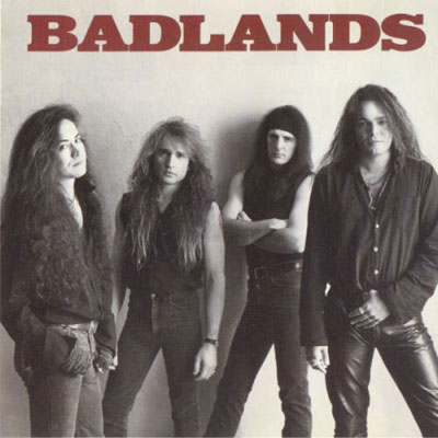 Ray Gillen (right) on the cover of Badlands' debut album