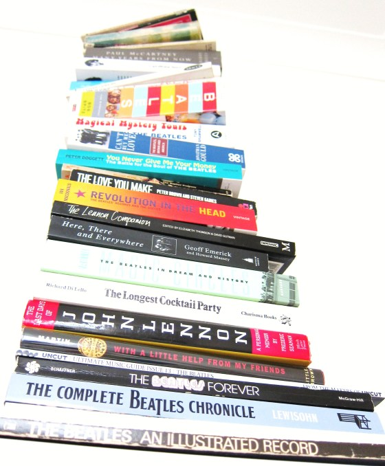 Pile of Beatles Books Top Ten Beatles Books