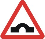 Hump-back-bridge sign