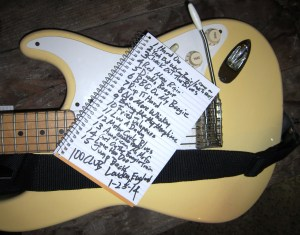 The Set List from the 100 Club