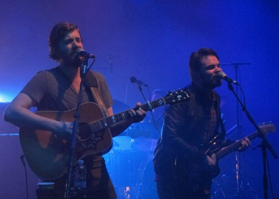 Gaz Coombs (right) joins midlake onstage